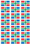 Groningen Flag Stickers - 21 per sheet